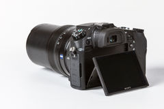 Кибер-съемка DSC-RX10 II Сони, 20 megapixels Стоковые Фотографии RF