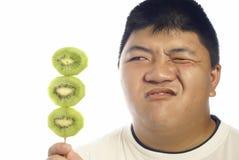 киви плодоовощ зеленый несчастный Стоковые Фотографии RF