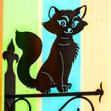 Киев, Украина, ноябрь 2016 - декоративный черный кот Стоковое Фото