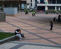 Киев, Украина 19-ое апреля 2019 Спор 2019 UA президентский Стадион Киева Olympiyskiy стоковое фото