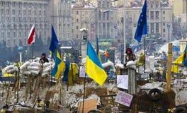 Киев, Украина - 13-ое декабря: протест против президента Yanuk Стоковые Изображения RF