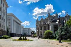 КИЕВ, УКРАИНА - 4-ое июня 2018: Здание президентской администрации стоковое изображение