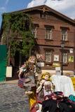 Киев, Украина - 4-ое июня 2016: Счетчик ` уличных торговцев в Andree стоковые фотографии rf