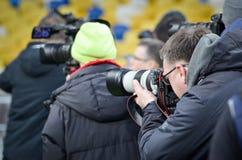 Киев, УКРАИНА - 14-ое марта 2019: Футболист во время матча лиги Европы UEFA между динамомашиной Киевом против Челси (Лондона, стоковая фотография rf