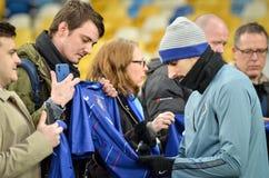 Киев, УКРАИНА - 14-ое марта 2019: Футболист во время матча лиги Европы UEFA между динамомашиной Киевом против Челси (Лондона, стоковое изображение rf