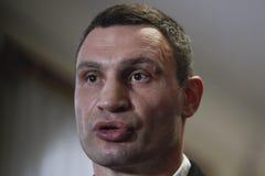 КИЕВ, УКРАИНА - 15-ое ноября 2015: Vitali Klitschko стоковая фотография