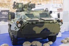 Киев, Украина - 14-ое октября 2016: Украинская продукция бронетранспортера на выставке Стоковые Фото