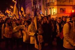 КИЕВ, УКРАИНА - 9-ое октября 2017: VÑ-rnÑ- -го март zbÑ-rnÑ-y (Fai Стоковая Фотография