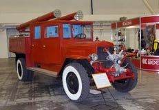 Киев, Украина - 22-ое сентября 2015: Старая пожарная машина на ZIS-5 Стоковые Фотографии RF