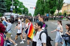 Киев, Украина - 23-ье июня 2019 Март равности LGBT KyivPride -го марш E стоковая фотография