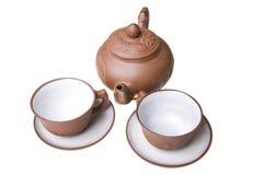 киец придает форму чашки чайник Стоковое Изображение