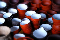 киец придает форму чашки чай Стоковые Фото