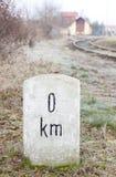 километр нул Стоковые Изображения