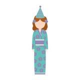 кимоно воплощения аниме имеет партию бесплатная иллюстрация