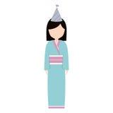 кимоно воплощения аниме имеет партию иллюстрация штока