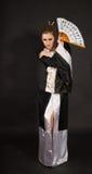 кимоно девушки потехи Стоковое фото RF