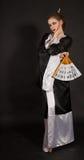 кимоно девушки потехи Стоковое Изображение