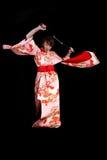кимоно действия Стоковые Изображения