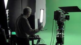 Кинематографер на работе видеоматериал