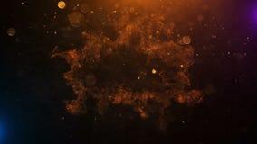 Кинематографический взрыв анимации названия с частицами огня иллюстрация штока