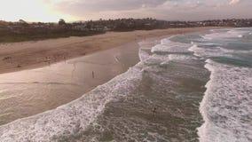 Кинематографический воздушный отснятый видеоматериал собора трясет, Kiama сток-видео