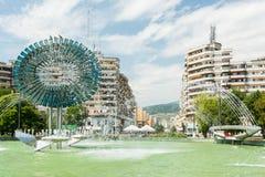 Кинетический фонтан Alba города Iulia Стоковое Фото
