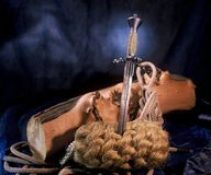 кинжал средневековый Стоковые Изображения