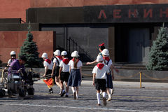 Киносъемка на красной площади в Москве Стоковые Изображения RF