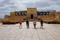 Кинотехнологические комплекты в Ouarzazate, Марокко Стоковое фото RF