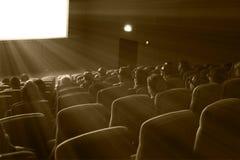 Кино вахты 3D телезрителей, тонизировать sepia стоковая фотография