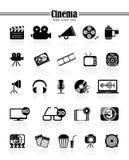 Кино значков Стоковые Изображения