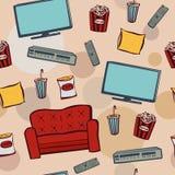 Кино дома картины Seanless Бесплатная Иллюстрация