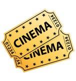 кино снабжает 2 билетами Стоковое Фото