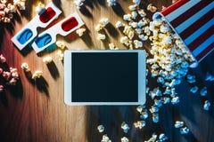 Кино течь app Стоковые Изображения