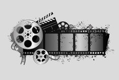 кино элементов иллюстрация вектора