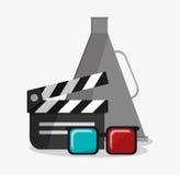 Кино Clapboard и дизайн кино Стоковое фото RF
