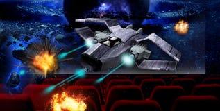 кино 3d иллюстрация вектора