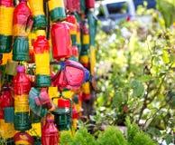Киоск регги, зеленый цвет, желтый цвет, красный цвет, детали Rasta-человека Стоковые Фото