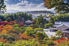 Киото на виске Ginkakuji стоковые фотографии rf