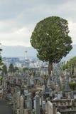КИОТО, ЯПОНИЯ - 1-ОЕ МАЯ: Кладбище Higashi Otani 1-ого мая 2014 я Стоковая Фотография RF