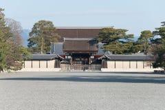 КИОТО, ЯПОНИЯ - 11-ое января 2015: Сад Киото Gyoen известное Histori Стоковые Фото