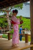 КИОТО, ЯПОНИЯ - 18-ОЕ ЯНВАРЯ: Hojo Hall Tenryu-ji 18-ого января 2017 в районе Arashiyama Киото Стоковое Изображение