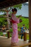 КИОТО, ЯПОНИЯ - 18-ОЕ ЯНВАРЯ: Hojo Hall Tenryu-ji 18-ого января 2017 в районе Arashiyama Киото Стоковое Фото