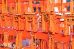 КИОТО, ЯПОНИЯ - 23-ье ноября 2016: Таблицы молитве Ema с уникально торусами стоковое фото rf