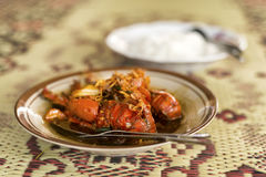 Кипеть еда омара с рисом Стоковое фото RF