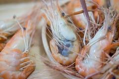Кипеть креветка готовая для еды Стоковое Изображение
