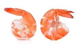 Кипеть креветка изолированная на белизне Стоковые Фотографии RF
