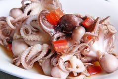 Кипеть осьминог в масле сезама Стоковая Фотография