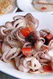 Кипеть осьминог в масле сезама Стоковые Изображения RF