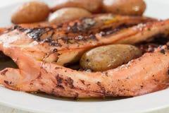 Кипеть осьминог с картошкой Стоковые Фото